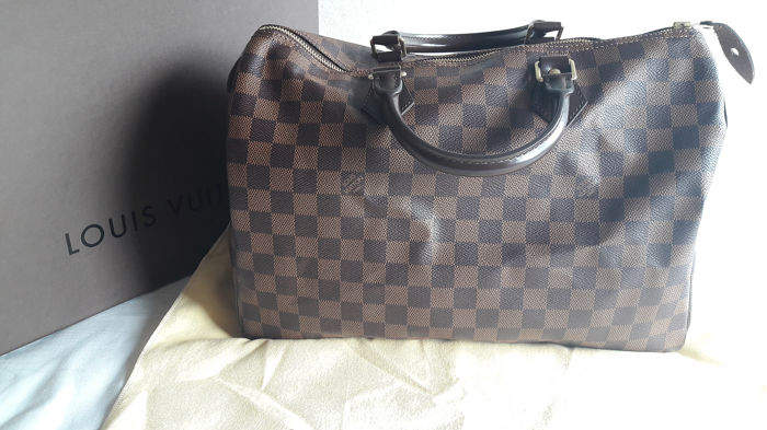 290674535532c8 Louis Vuitton - Speedy 35 Damier Ebene Handbag - Catawiki