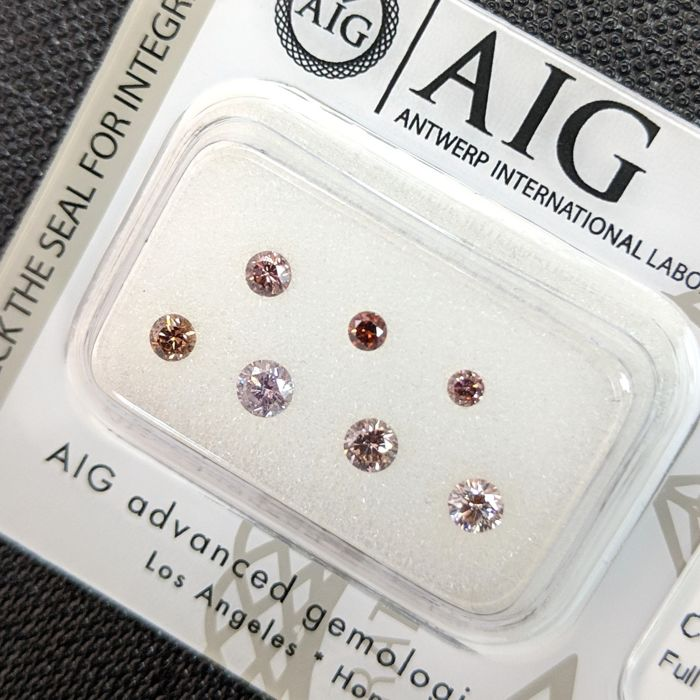 7 pcs Diamantes - 0.50 ct - Brillante - Fancy Mix Color - No Reserve Price, SI1, SI2, VS1, VS2, VVS1, VVS2