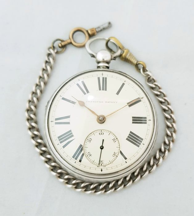 1873 - England - Birmingham - J. Jacobs & Co. improved patent  - verge fusee movement - silver pocket watch  - Mænd - 1850-1900