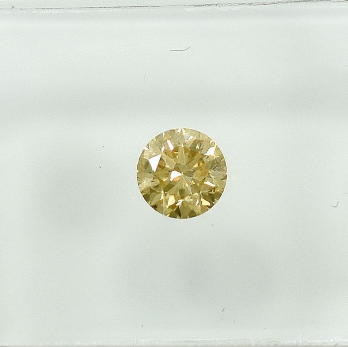 Diamante - 0.30 ct - Brillante - Fancy Light Yellow - Si2 - NO RESERVE PRICE