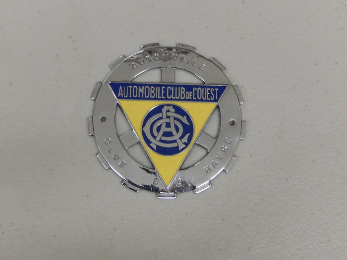 Insigne - French Automobile Club De L'Ouest Club Du Havre Car Badge Auto Emblem - 1970-1980