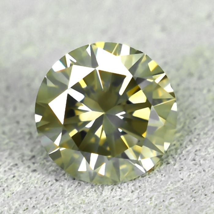 Diamante - 0.48 ct - Brillante - Light Grayish Brown - Si1 - NO RESERVE PRICE