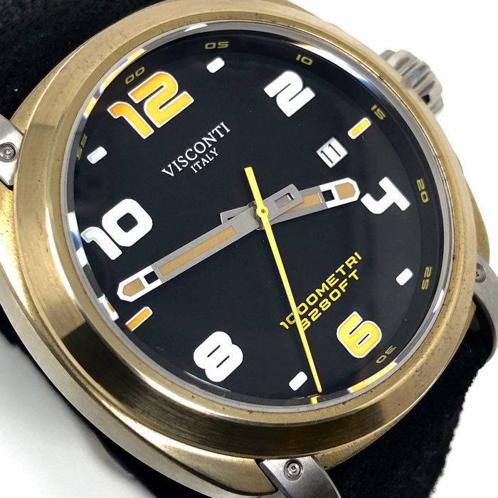 "Visconti - Automatic Watch Majorca Black Bronze ""NO RESERVE PRICE"" - KW30-12 - Men - BRAND NEW"
