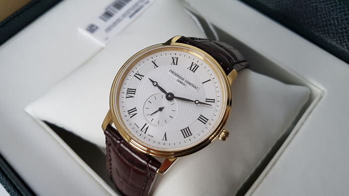 Frédérique Constant - slimline luxury gold plated men watch unworn  - Men - 2019