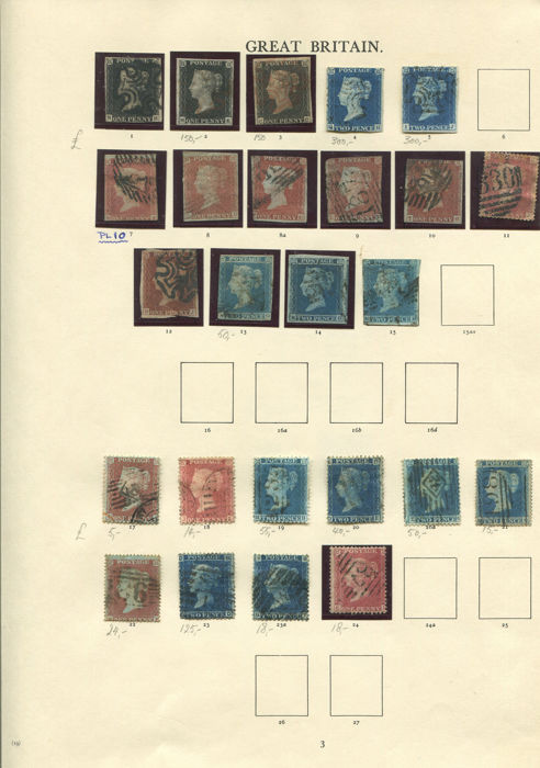 Gran Bretaña - Inglaterra 1840/1901 - Lovely old time Victorian collection  - Stanley Gibbons 1-214