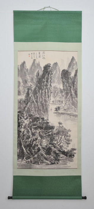 Hanging scroll (1) - Paper - China - Late 20th century