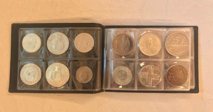 Wereld - Lot various coins 1882 /1975 (39 different) with many silver
