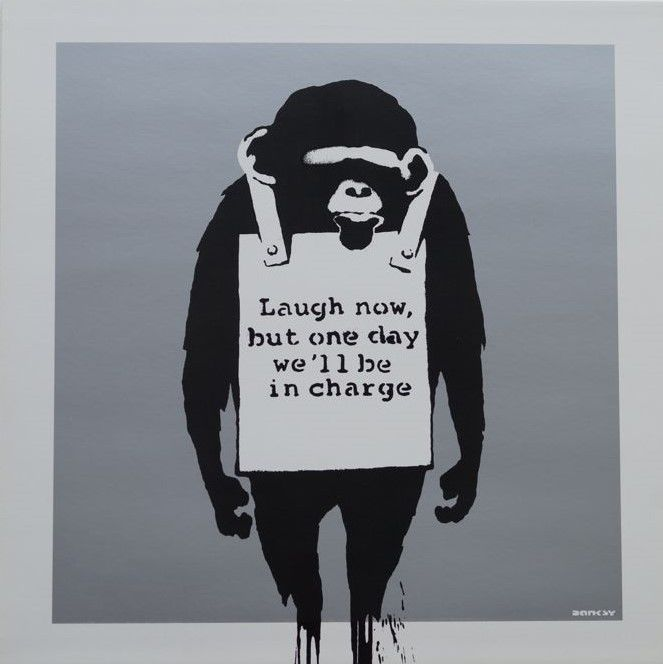 Banksy DJ DM - Laugh Now (silver)