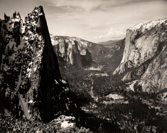 Ansel Adams (1902-1984) - Sentinel Rock and Yosemite Valley From Glacier Point Trail, c.1923-1927