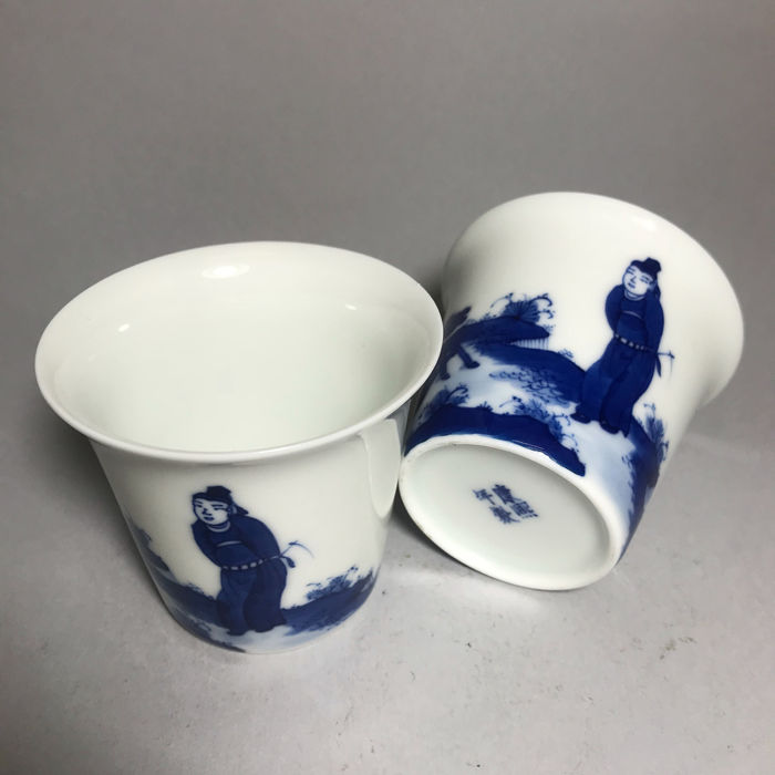 Tea cups (2) - Porcelain - China - Late 20th century