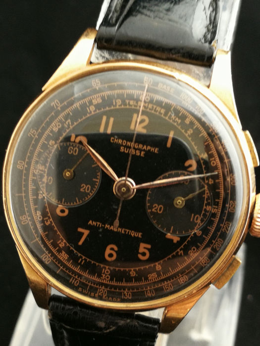 Chrongraphe Suisse - Anti-Magnetique - 18k Gold - Herren - 1970-1979