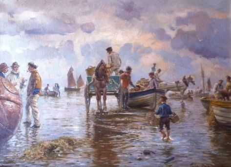 Fritz Raupp (1871-1949) - Shrimp Catchers