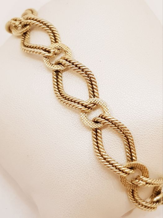 18 kt yellow gold - Italian bracelet from the 1970s, solid