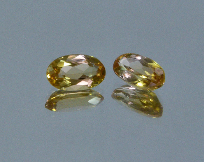 Imperial topaz pair - 2.33 ct