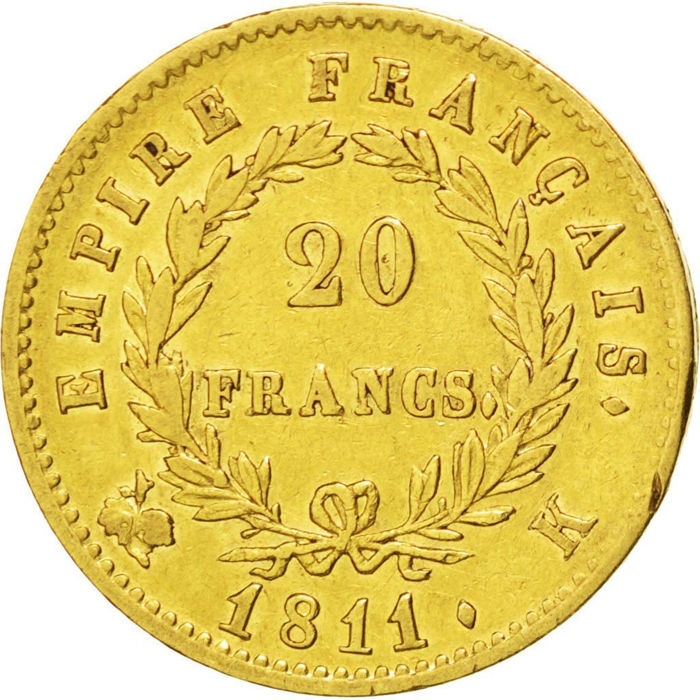 20 Francs 1811-K Napoléon I - Or