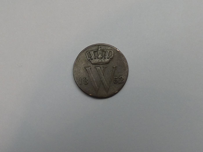 The Netherlands - 1/2 Cent 1852 Willem III