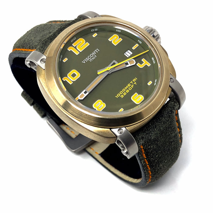 "Visconti - Automatic Watch Majorca Green Bronze ""NO RESERVE PRICE"" - KW30-11 - Heren - BRAND NEW"