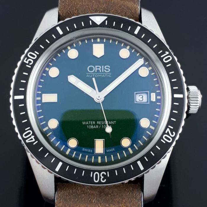 Oris - Diver Sixty- Five Green Dial - Ref: 7720  - Homme - 2000-2010