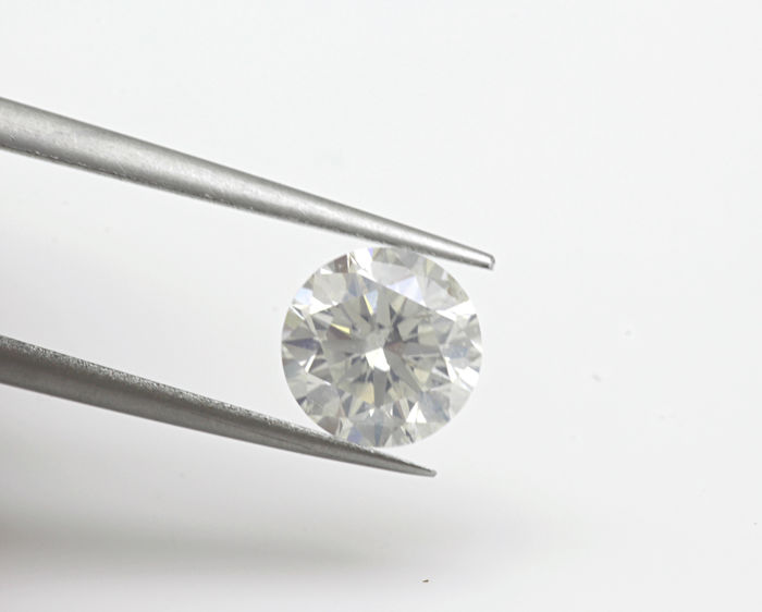 Diamante - 1.02 ct - Brillante, Redondo - E - SI1