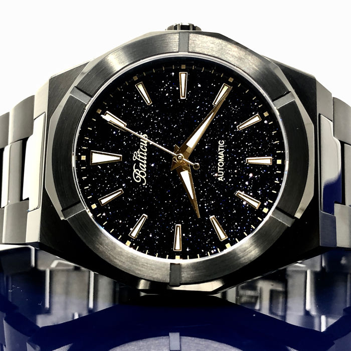 Balticus - Automatic Star Dust Black PVD Stainless Steel - Black Dust  - Homem - Brand NEW