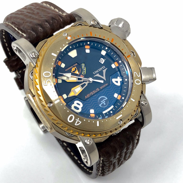 "Visconti - Abyssus Pro Dive 3000M Bronze Limited Edition 59/133 - W108-01-131-1408 ""NO RESERVE PRICE"" - Heren - NEW"