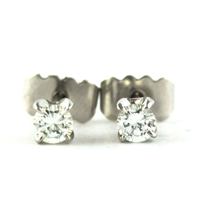 Luxury Stud  - 18 quilates Oro blanco - Pendientes Diamante