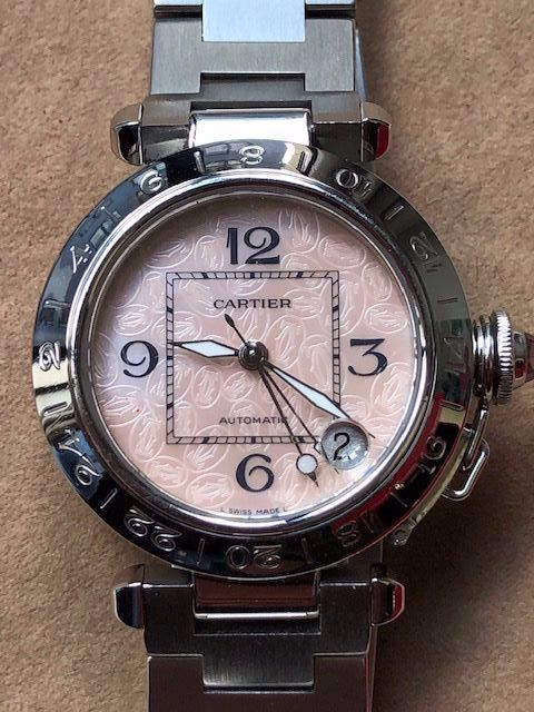 Cartier - Pasha GMT /Mother Pearl Dial - 2377 - Damen - 1990-1999