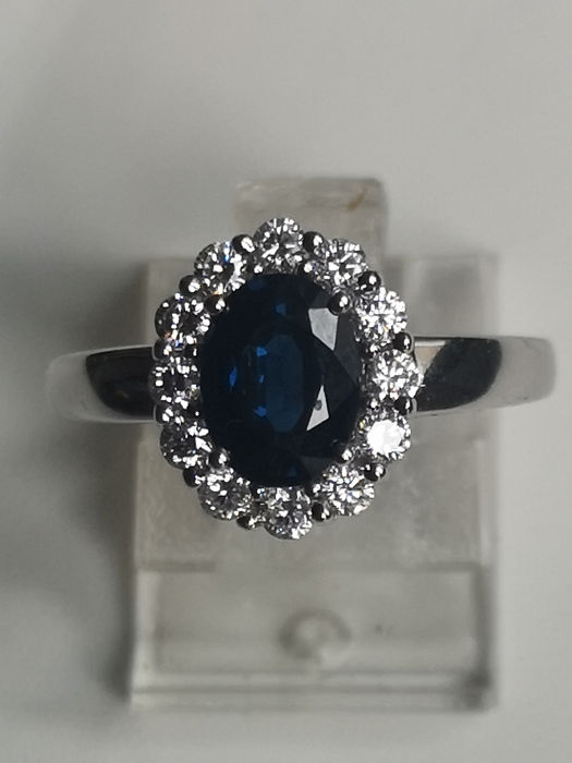 14 kt. White gold - Ring - 1.50 ct - 0.30ct