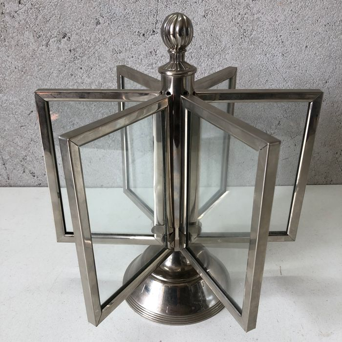 Silver-plated Photo Carousel - Photo Mill (1) - Silver-plated metal, Chrome and glass - Europa