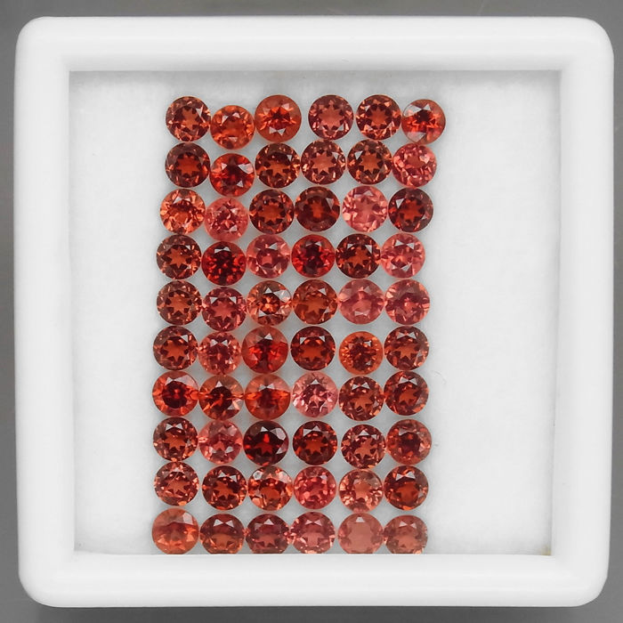60 pcs Red, Rhodolite  Garnet - 8.25 ct