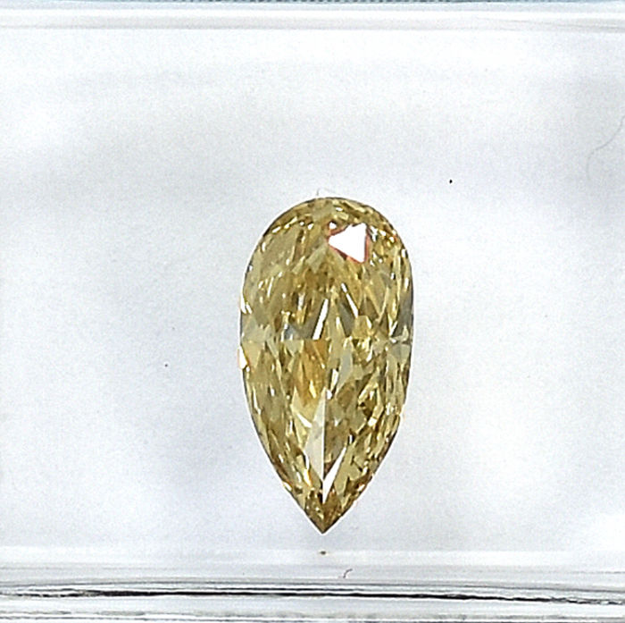 Diamond - 0.73 ct - Αχλάδι - Natural Fancy Brownish Yellow - SI1
