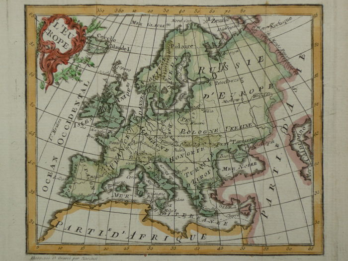 Europa, Continent; M. l'Abbé Expilly - L'Europe - 1760