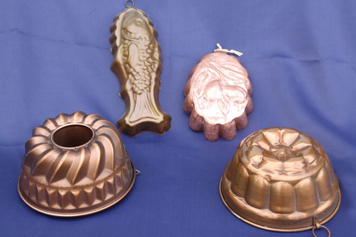 pudding forms in several shapes (4) - Cobre