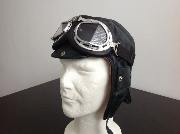 Kleding - Leather Helmet including Goggle Old style - 1930-1960