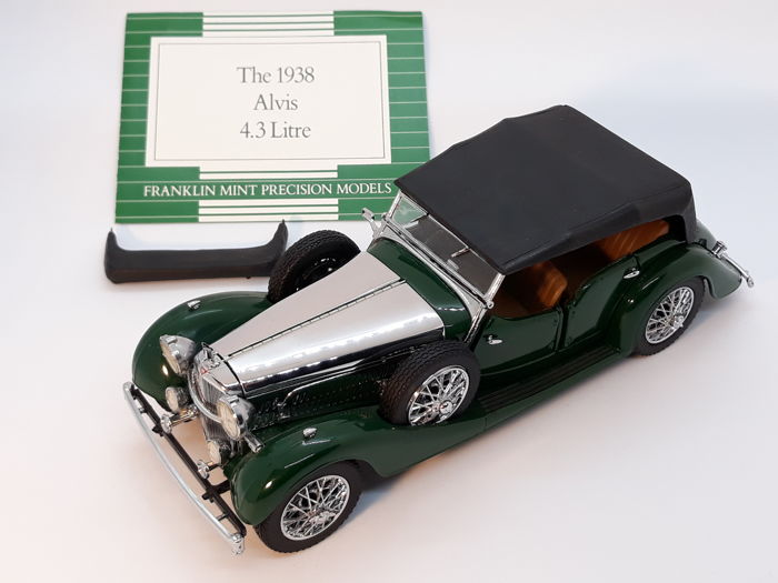 Franklin Mint - The 1938 Alvis 4.3 litre - car model with papers - mixed materials