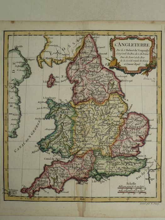 Anglii, Wales; Le Sr. Fortin - L'Angleterre - 1778