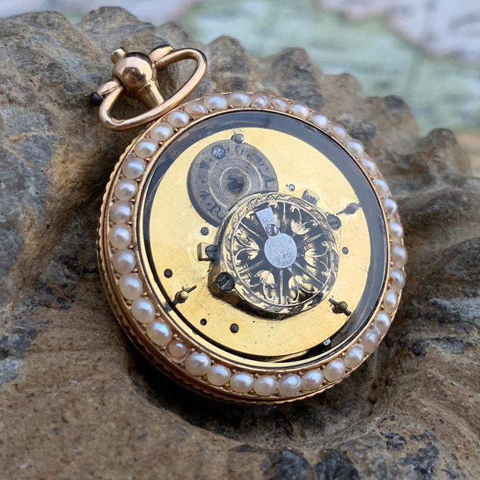 French Verge Fusee pocket watch - NO RESERVE PRICE  - Mujer - 1800s