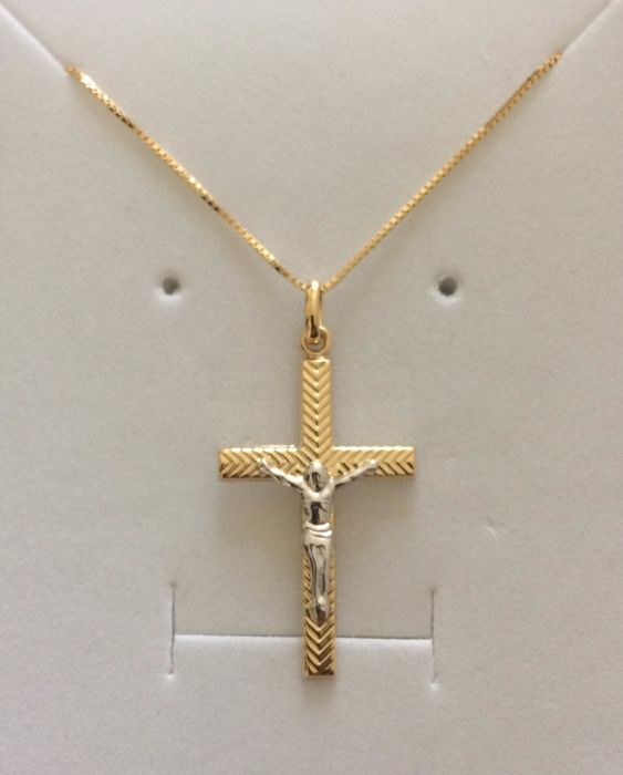 no riserva - 18 kt. White gold, Yellow gold - Necklace with pendant