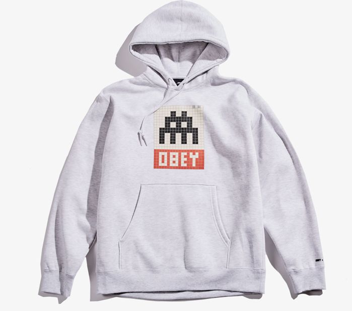 Shepard Fairey (OBEY) x Invader - Hoodie (Size M)