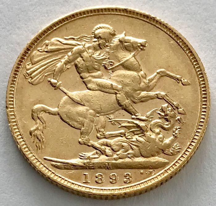 Australia - Sovereign 1893 M (Melbourne) - Victoria - Gold