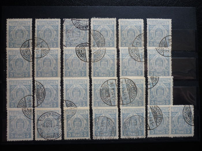 Luxemburg 1890 - Telegraph stamps - Michel 5A (50 pieces) - Michel 5A