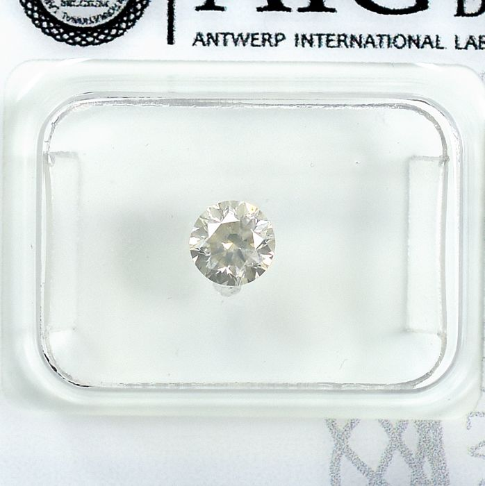 Diamant - 0.46 ct - Brillant - O,Very Light Yellow - Si1 - NO RESERVE PRICE