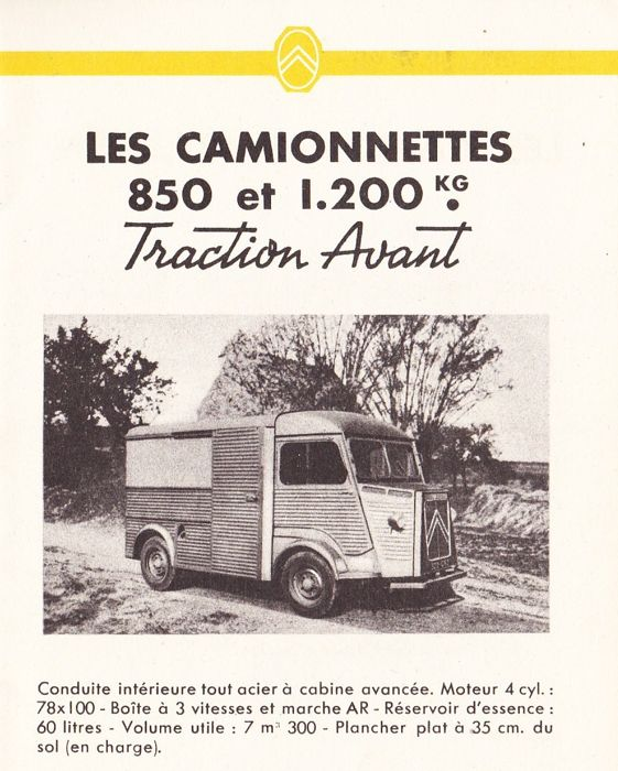 Brochures / catalogues - Citroën Camions and Camionetts Traction Avant ( = HY ) 1948 brochure/catalog  - 1948-1948