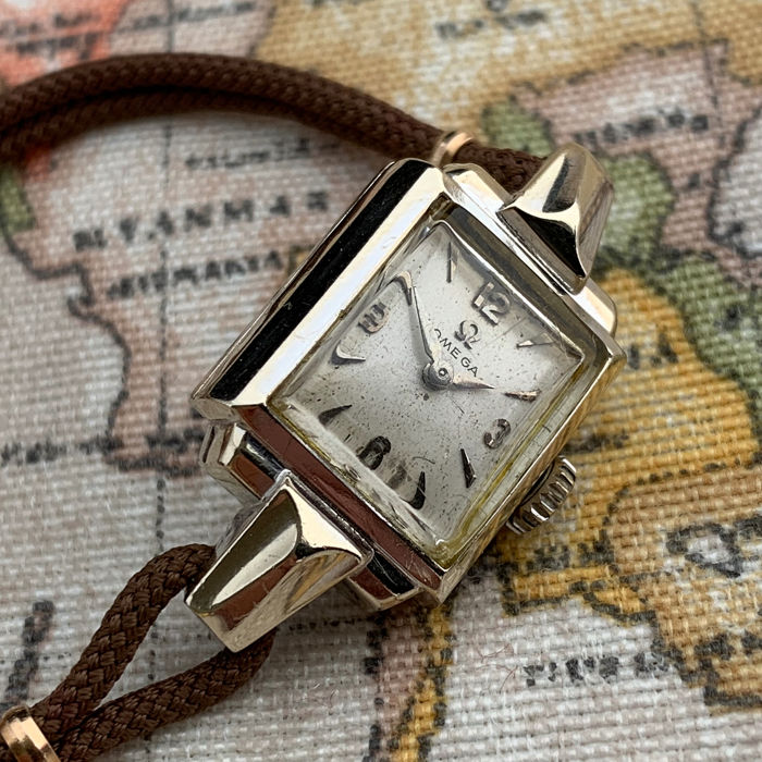 Omega - cocktail watch - 14c White Gold - 5512 - Mujer - 1950s