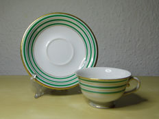 Herend-mocha cup + small plate - Cafetière - Porcelaine