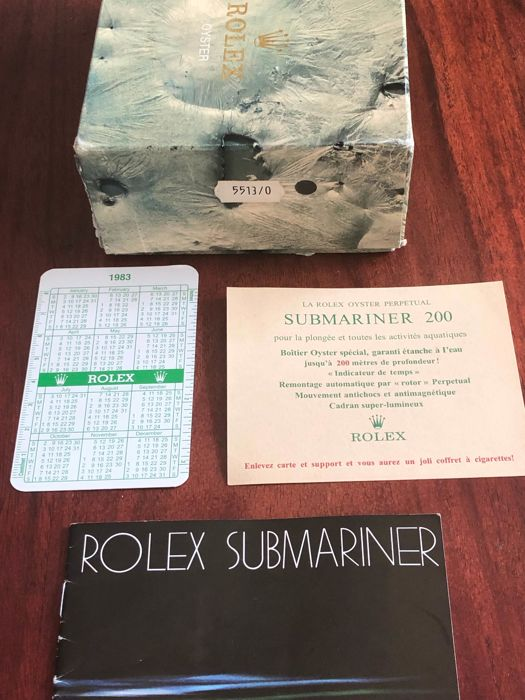Rolex - submariner  - reference 5513 - Unisex - 1980-1989
