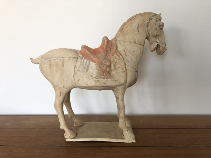 Sculpture (1) - Faïence - Horse - Oxford TL Test - Chine - Dynastie Tang (618–907)