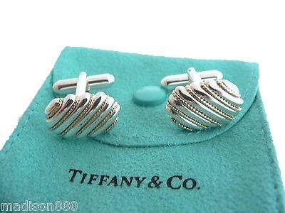 Tiffany&Co Silver 925 and 18 karat Gold Rope  - Cufflinks