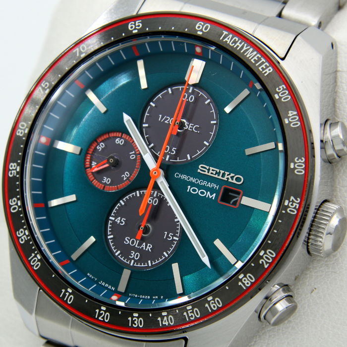 "Seiko - Solar Chronograph ""Luxury Sport"" Blue Dial - ""NO RESERVE PRICE"" - Men - 2018"