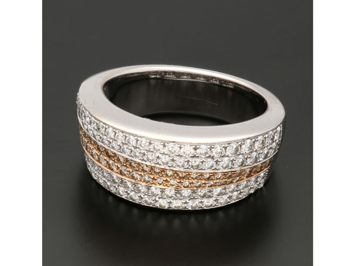 Innocence - 18 kt Gold, zweifarbig - Ring - 0.77 ct Diamant